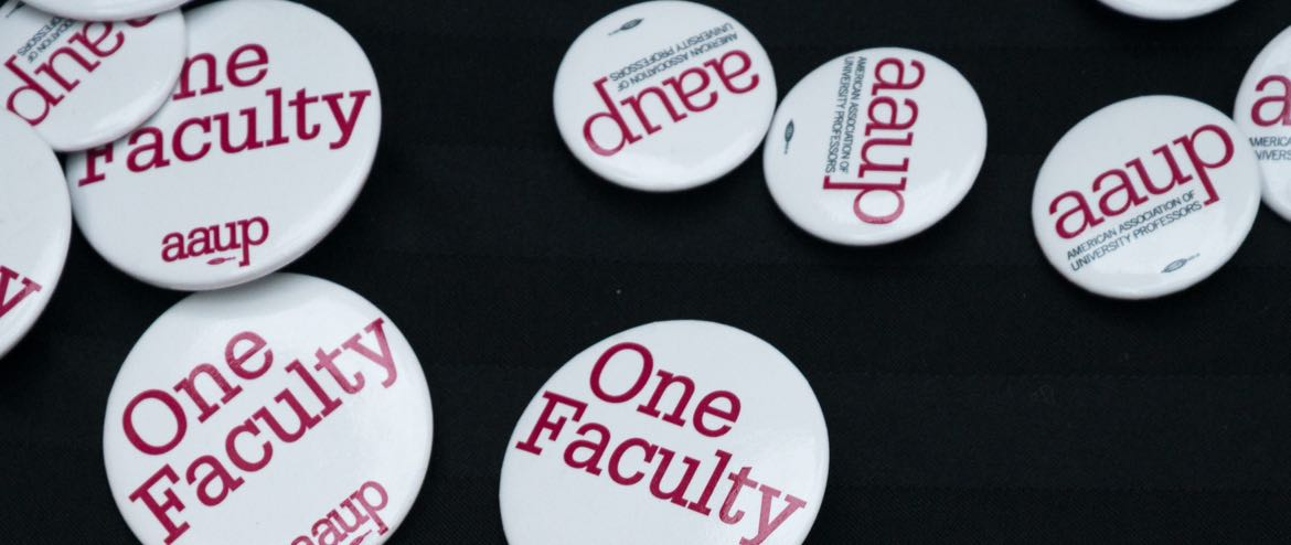 AAUP buttons